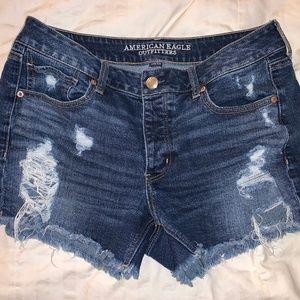 AE Distressed Midi Shorts